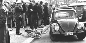 Momentos después del atentado a Rudi Dutschke, 11 de abril de 1968.